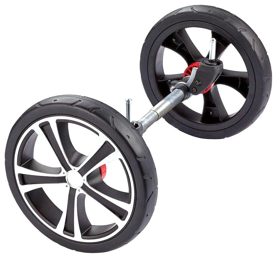 Купить GESSLEIN Колеса передние для F6 ELOXIERT АНОДИРОВАННЫЙ Серебристый 12 дюймов, Запчасти для колясок
