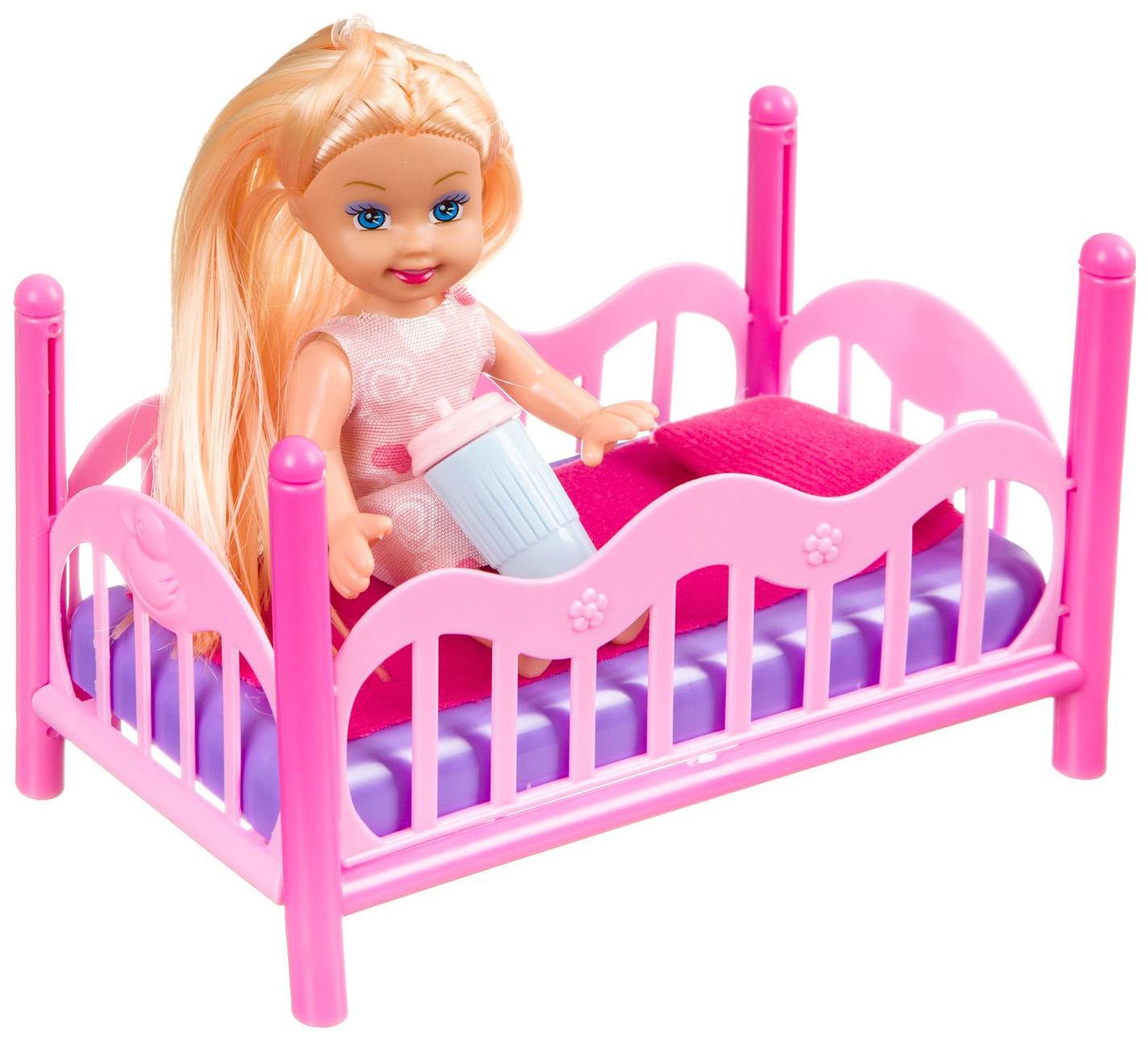 Купить Набор игровой Bondibon Куколка OLY с кроваткой арт. K899-27., Классические куклы