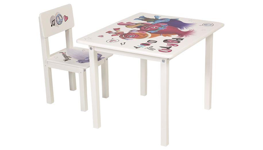 Комплект детской мебели Polini kids Fun 105 S Тролли, розовый