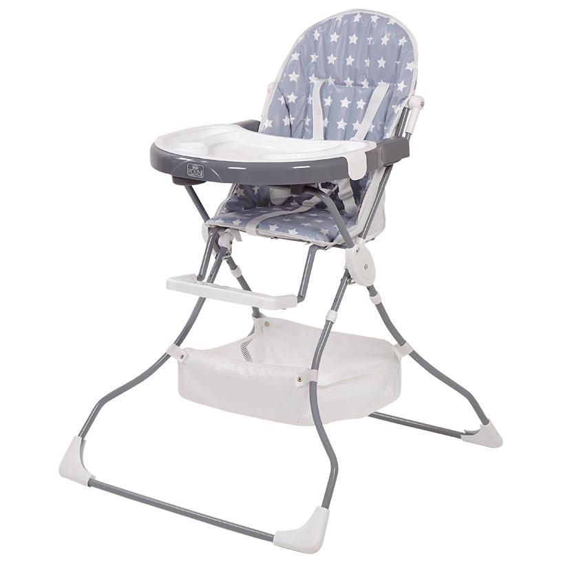 Стульчик для кормления Polini kids 252 Звезды серый/белый