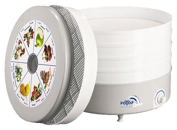 Сушилка для овощей и фруктов Ротор СШ-007-06 white/grey