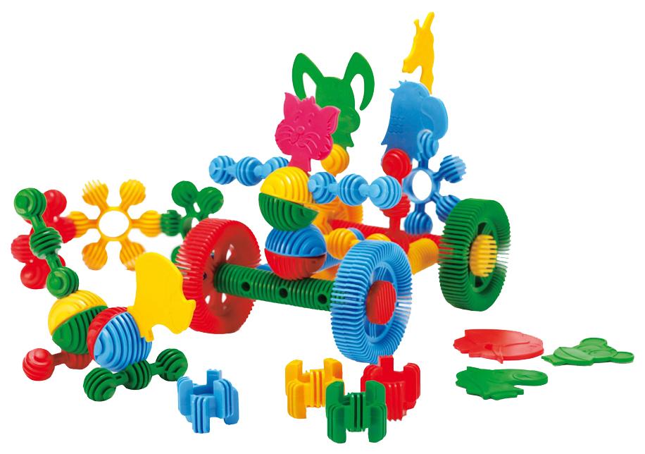 Купить Конструктор пластиковый Wader Funny blocks, 30 элементов, Конструкторы пластмассовые
