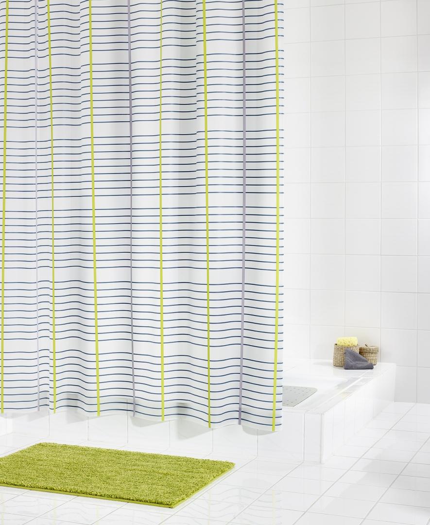 Штора для ванных комнат Classique цветной 180Х200