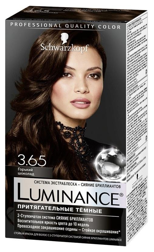 Краска для волос Schwarzkopf Luminance Color 3.65 Горький шоколад 165 мл
