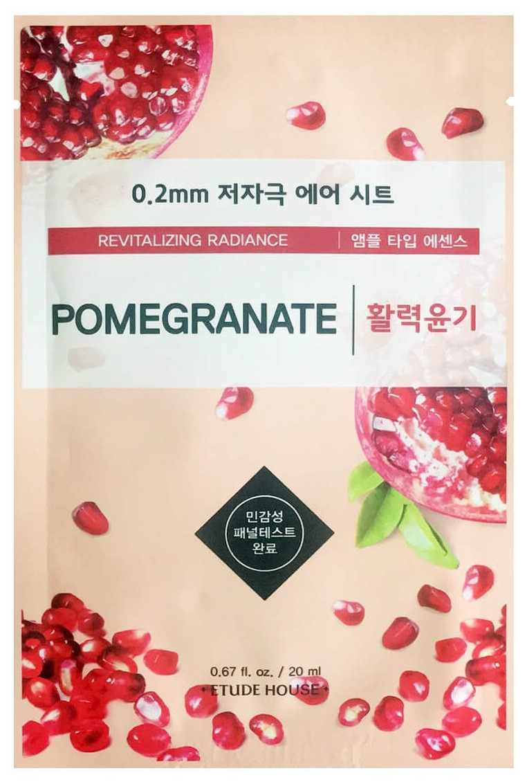 Маска для лица Etude House 0,2 Therapy Air Mask Pomegranate 20 мл фото