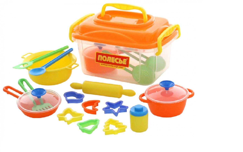Купить Набор детской посуды 20 элементов в контейнере Wader 56634_PLS, Игрушечная посуда
