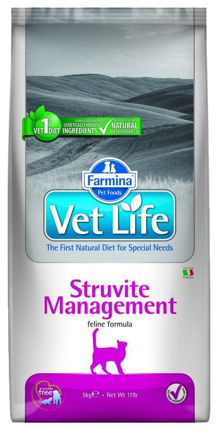 Сухой корм для кошек Farmina Vet Life Management Struvite, от струвитов, курица, 5кг