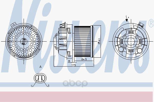 Мотор отопителя Nissens 87257