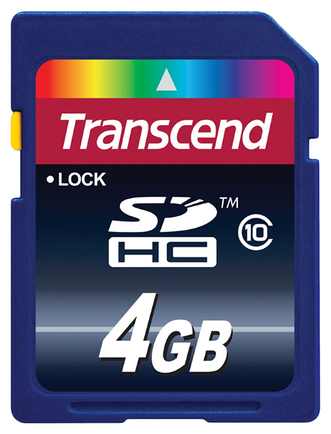 Карта памяти Transcend Micro SD TS4GSDHC10 4GB