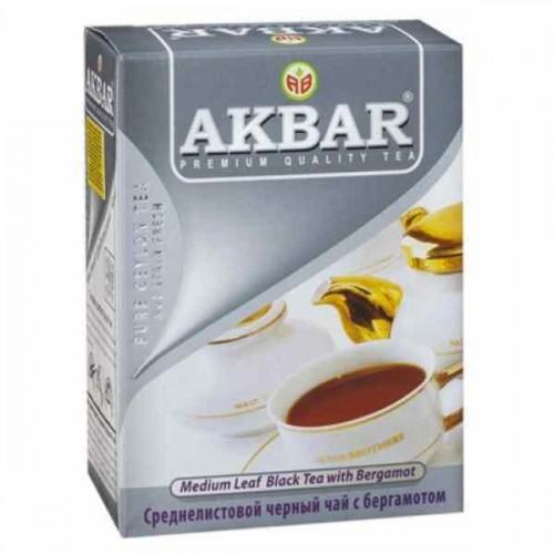 Чай черный листовой Akbar earl grey 200 г фото