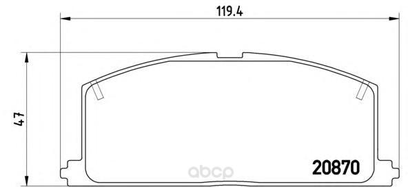 Тормозные колодки дисковые brembo P83011