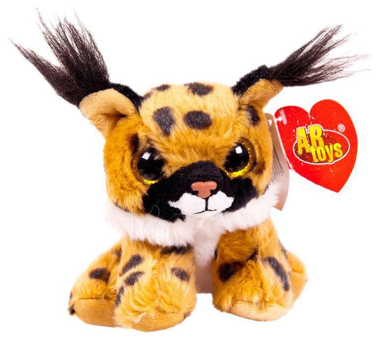Купить Мягкая игрушка ABtoys Рысь, 15 см, Мягкие игрушки животные