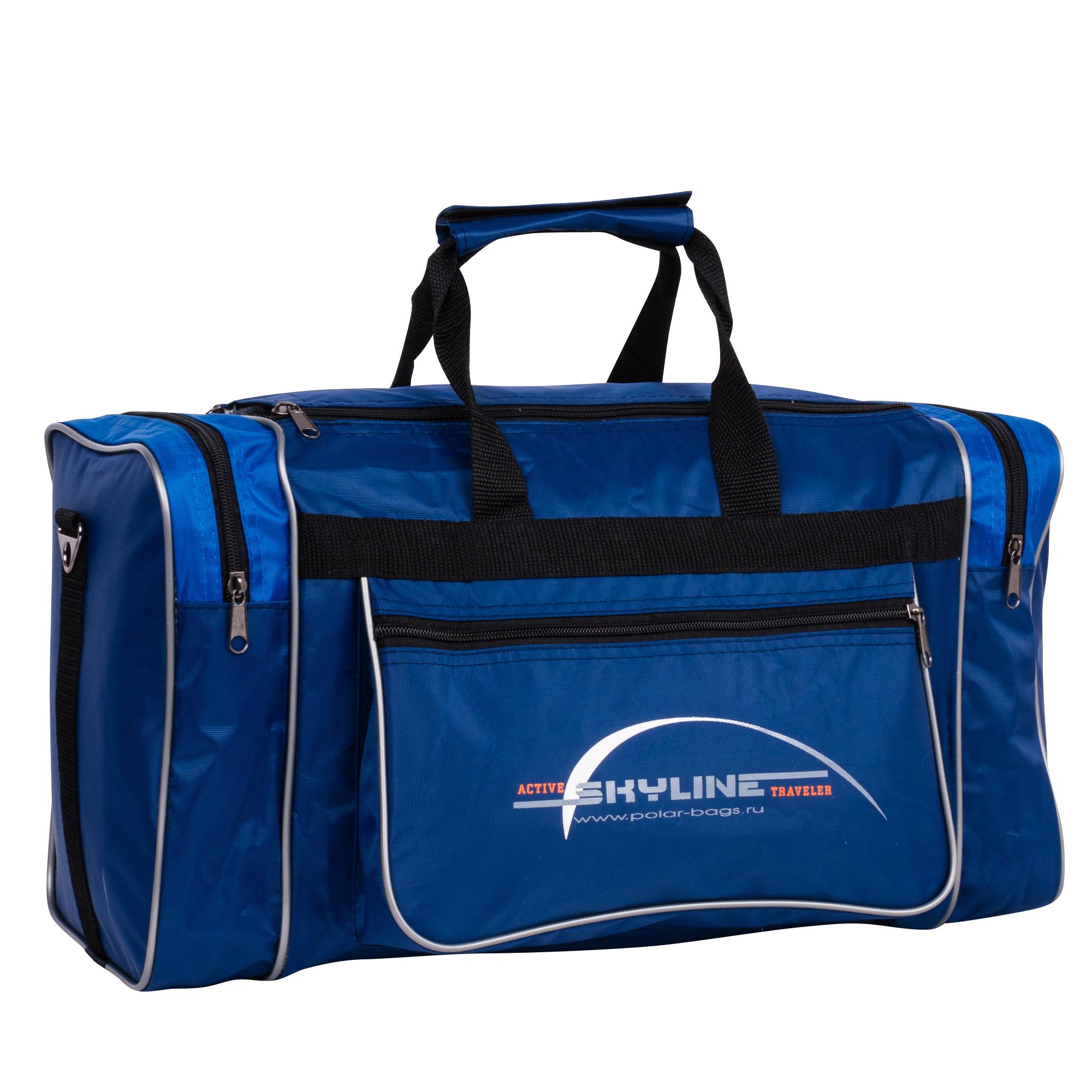 Спортивная сумка Polar Джонсон Нейлон 6009с синяя