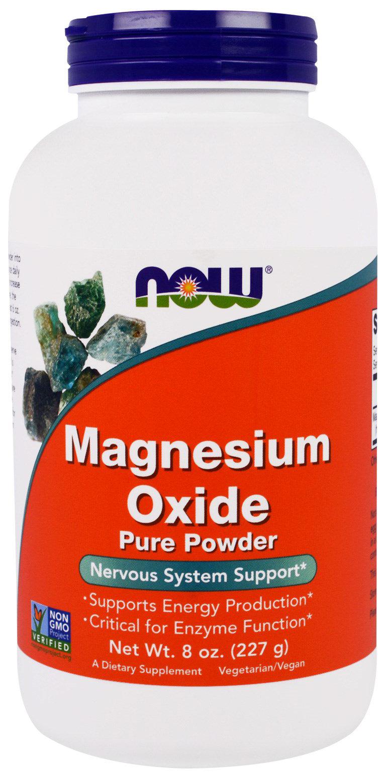 Купить Витаминно-минеральный комплекс NOW Magnesium Oxide Powder 227 г