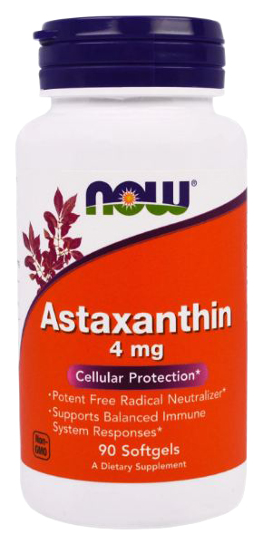 Купить Для зрения NOW Astaxanthin 4 мг 90 капсул