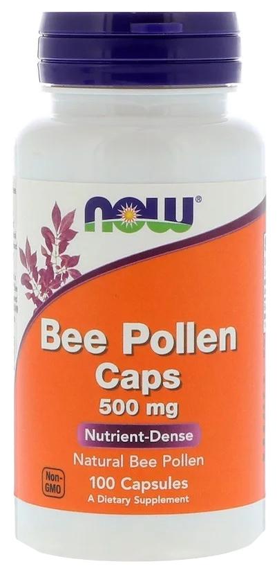 Купить Добавка для здоровья NOW Bee Pollen 100 капс. натуральный