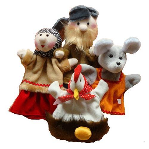 Игровой набор Тайга Кукольный театр Курочка Ряба 4 куклы