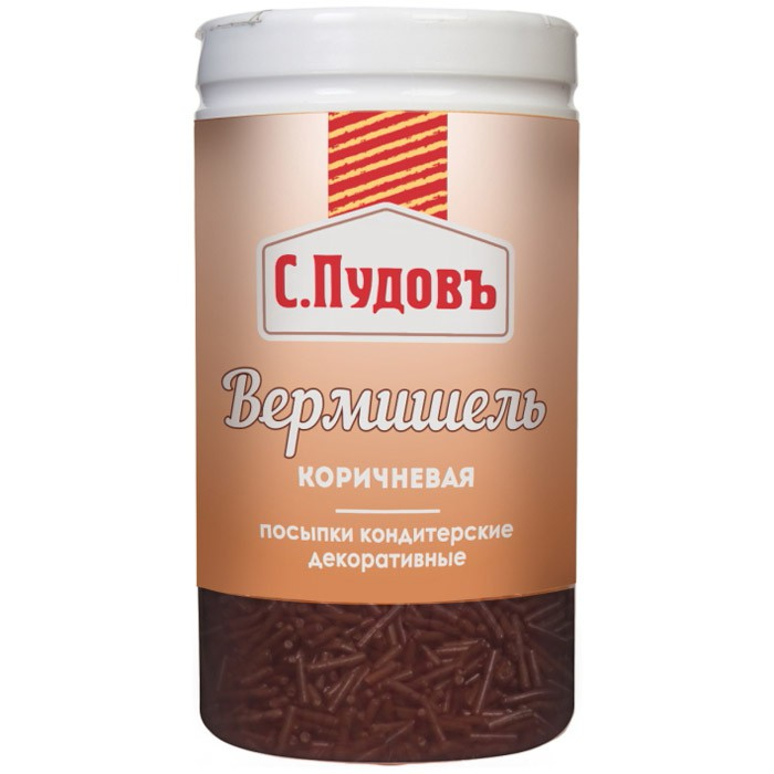 Посыпка вермишель коричневая С.Пудовъ 40 г фото