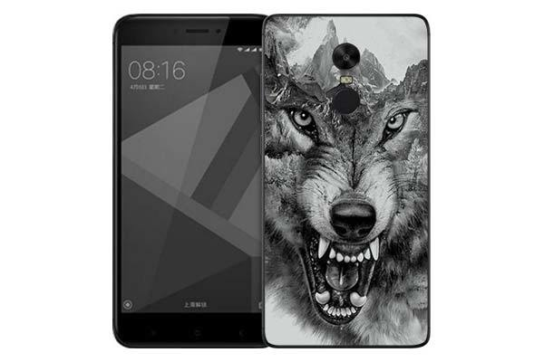 Чехол Gosso Cases для Xiaomi Redmi Note 4X «Волк в горах»
