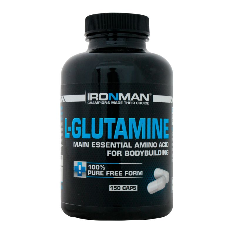 Ironman L Glutamine 150 капсул без вкуса