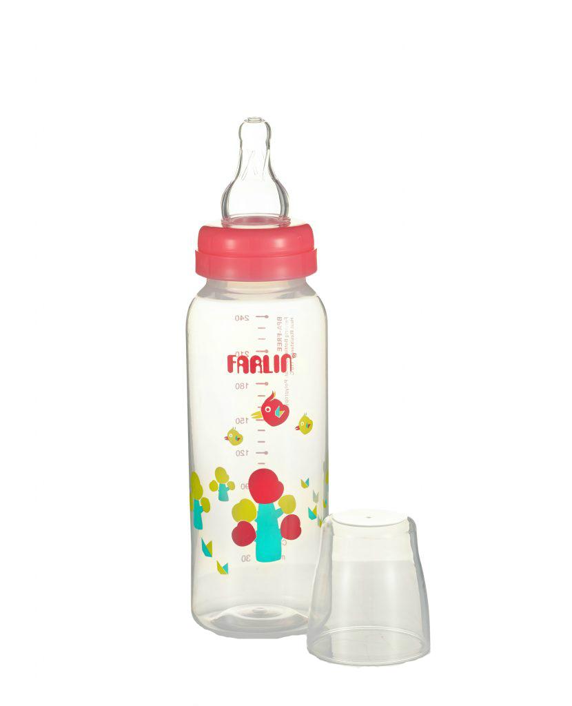 Бутылочка для кормления FARLIN из полипропилена со стандартным горлышком, 240 мл