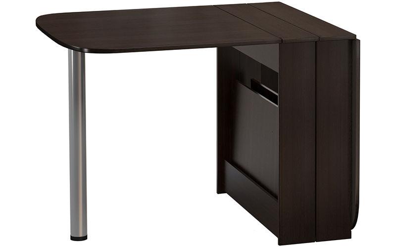 Кухонный стол Divan.ru 74х32х83 см, коричневый/серебристый