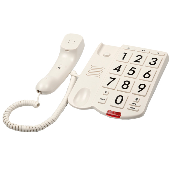 Телефон проводной Ritmix RT 520 Ivory
