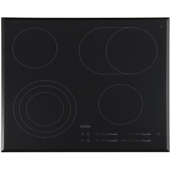 Встраиваемая варочная панель электрическая AEG HK565407FB Black