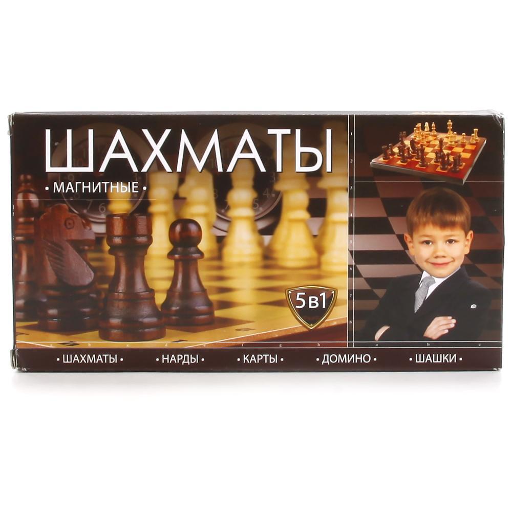 Купить Шахматы/шашки/нарды/карты/домино, Шахматы магнитные играем вместе 5 в 1 g049-h37020r, Играем Вместе,
