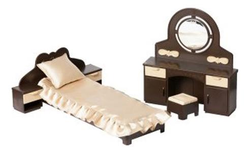 Мебель для спальни для кукольного дома Огонек