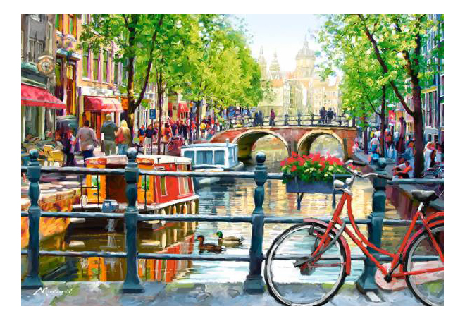 Пазл Castorland Пейзаж, Амстердам 1000 деталей
