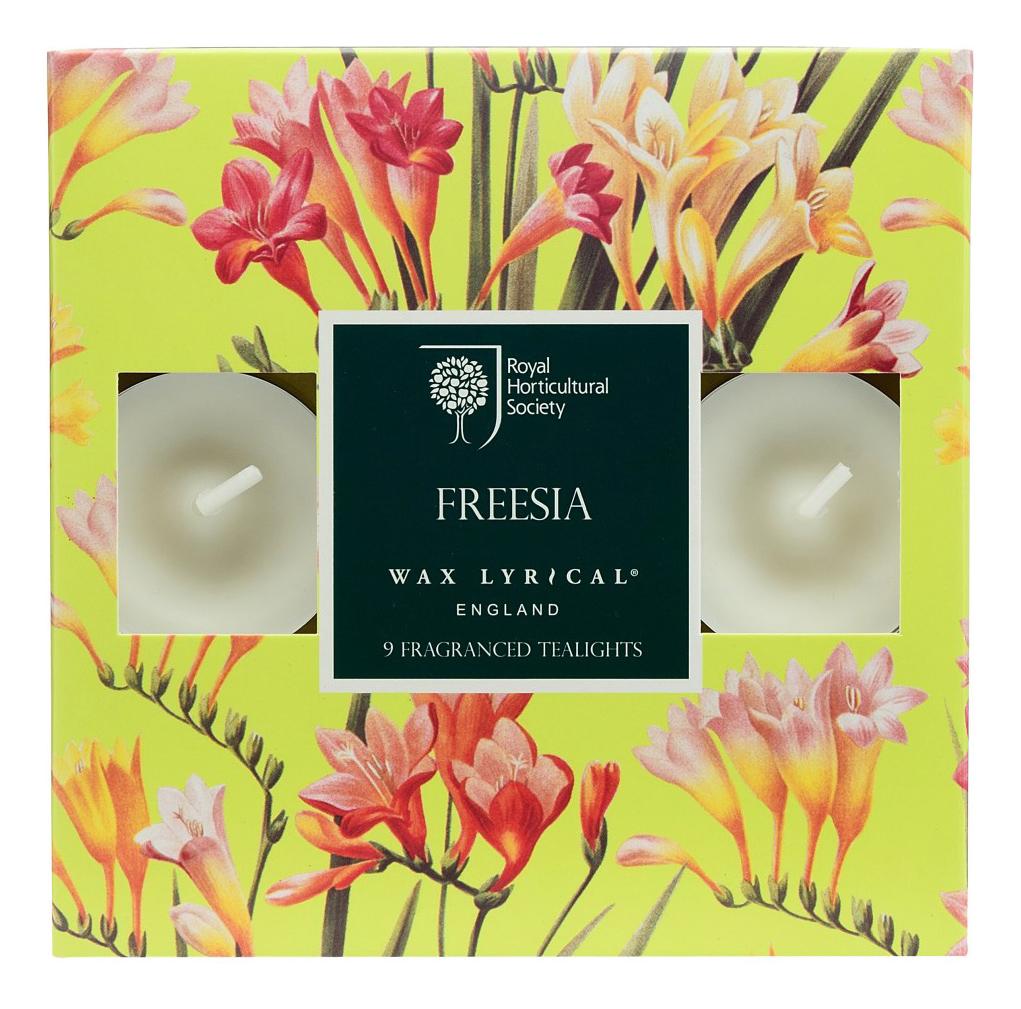 Набор ароматических чайных свечей Цветущая фрезия 9 шт,