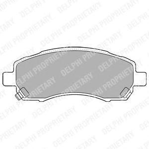 Тормозные колодки дисковые DELPHI LP1545 фото