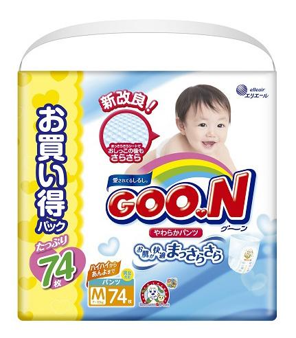 Купить Подгузники-трусики Goo.N Ultra Jumbo Pack M (7 до 12 кг), 74 шт., Goon