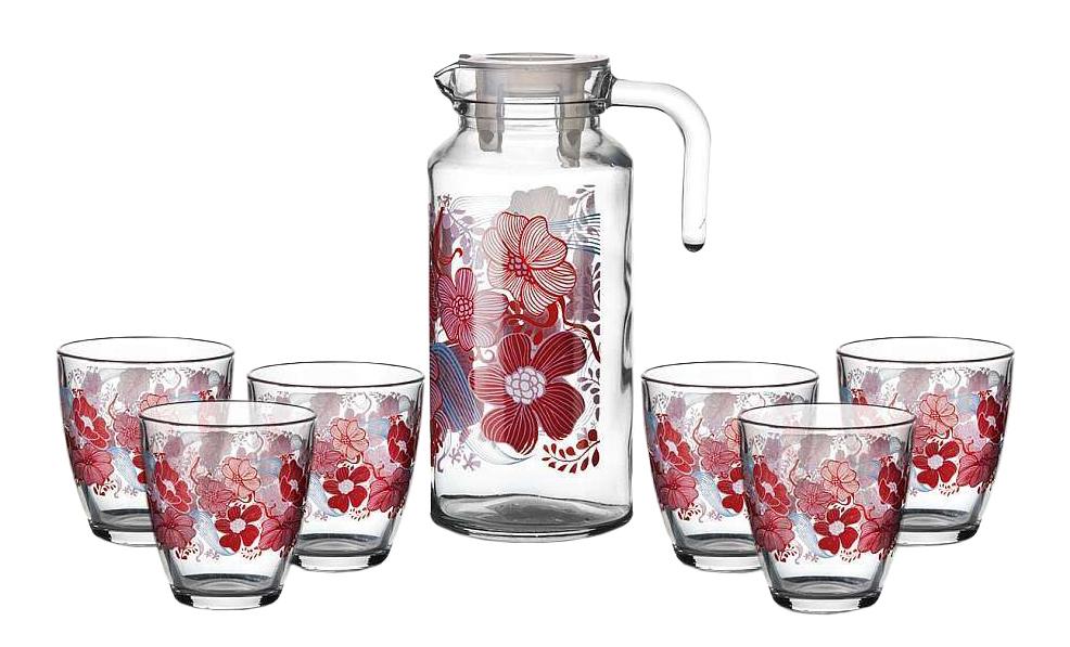 Набор стаканов и кувшин Pasabahce Red Dream