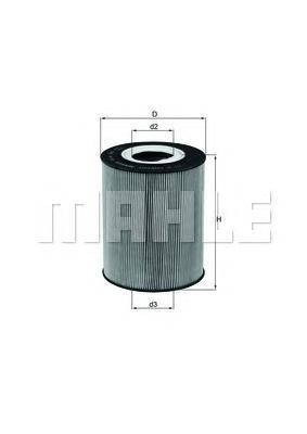 Фильтр масляный двигателя KNECHT OX146D