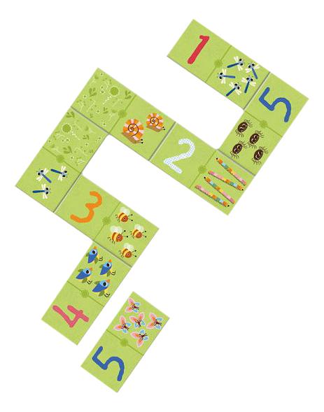 Купить Семейная настольная игра Djeco Домино Раз, два, три, Семейные настольные игры