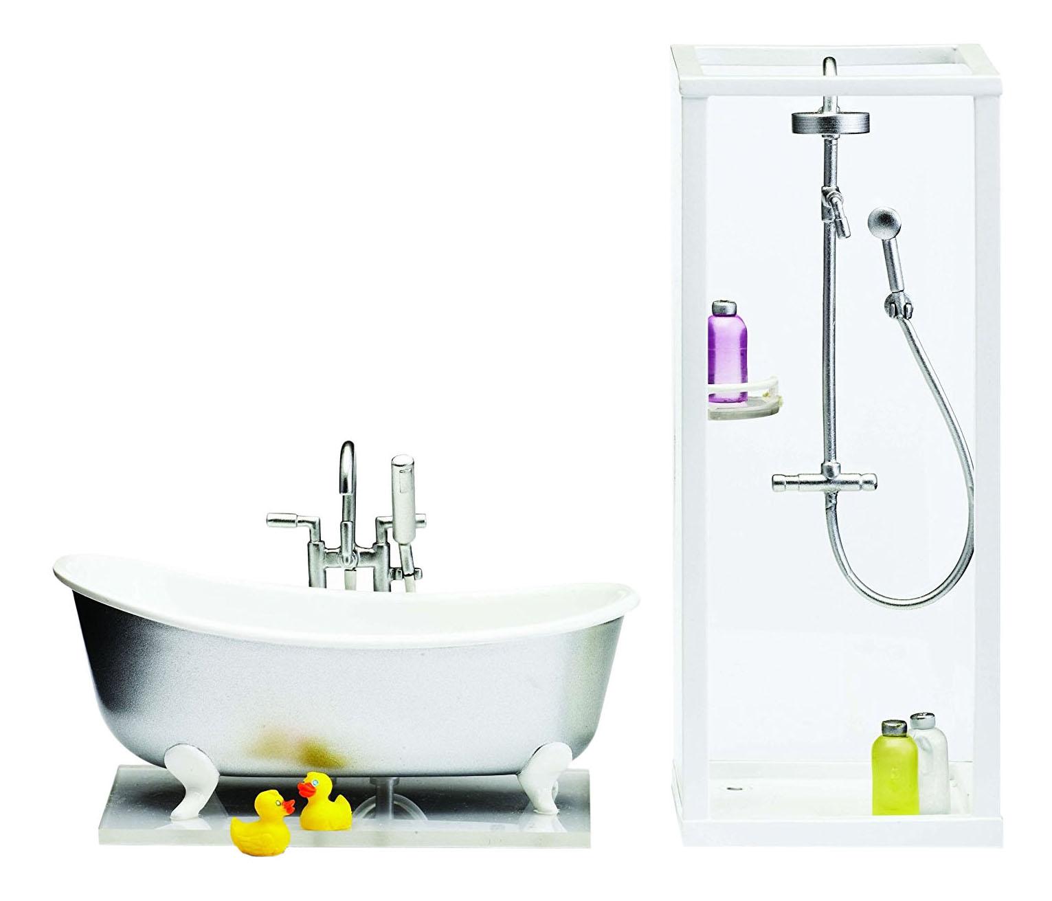 Купить Смоланд. Ванная и душевая, Смоланд Ванная и душевая LB_60208900 для домиков Lundby, Аксессуары для кукол
