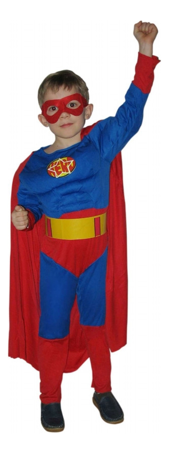 Карнавальный костюм Snowmen Супермен, цв. красный; синий