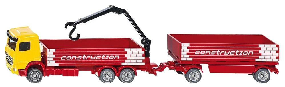 Купить Строительный грузовик с прицепом 1:87 1797, Спецтехника Siku 1797 1:87, Строительная техника