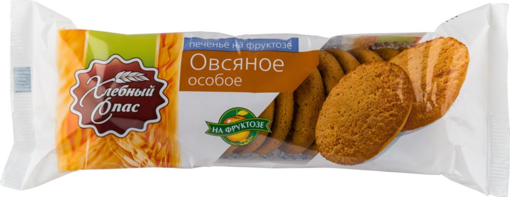 Печенье овсяное Хлебный Спас на фруктозе 250 г