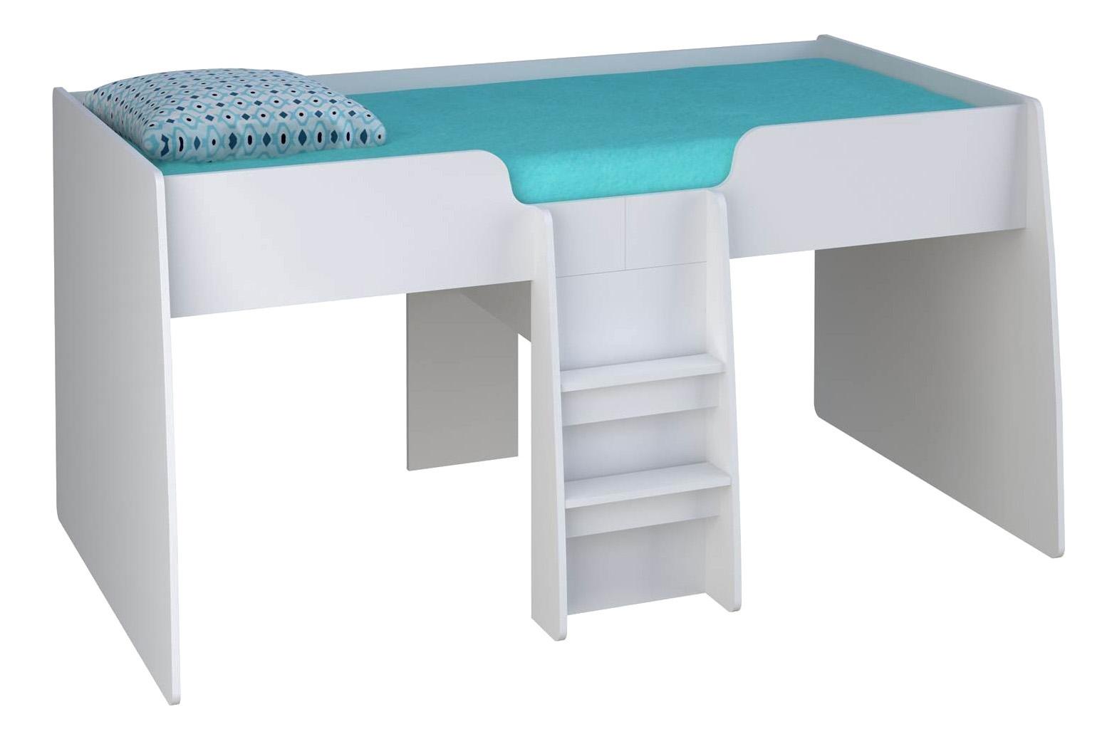 Кровать чердак Polini Simple 4100, белый