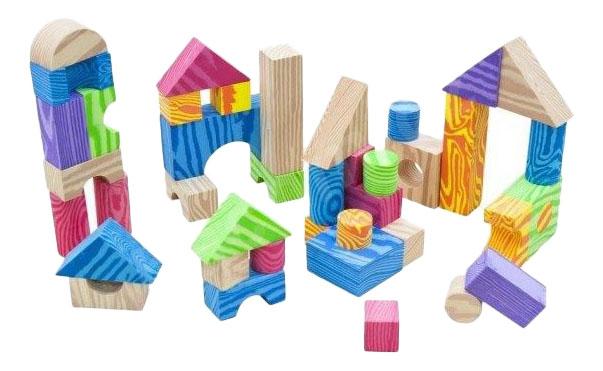 Купить Кубики Colorful Woodlike Blocks 60 шт Little Hero 3094, Развивающие кубики