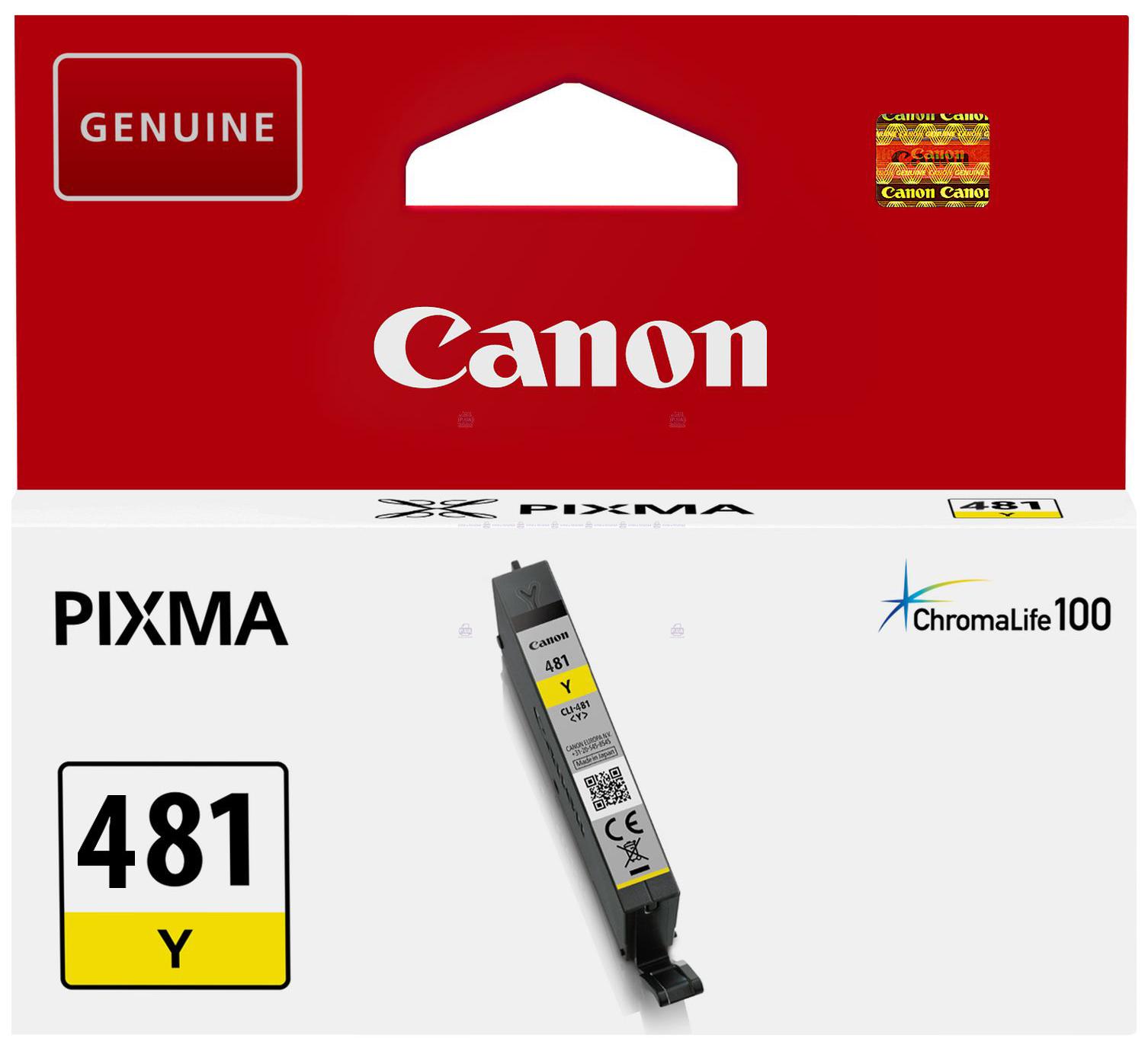Картридж для струйного принтера Canon CLI-481 Y желтый, оригинал