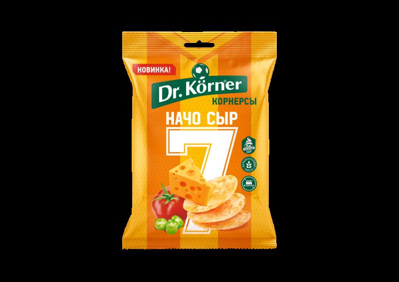Чипсы Dr.Korner цельнозерновые кукурузно-рисовые с сыром начо 50 г