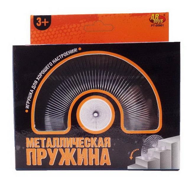 Металлическая пружинка ABtoys диаметр 4,6 см серый