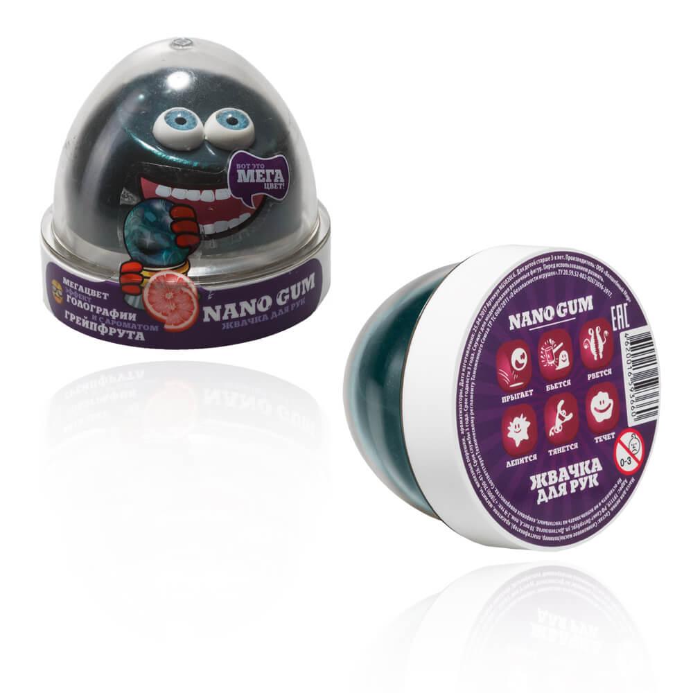 Игрушка-антистресс Nano Gum Жвачка для рук эффект голографии и аромат грейпфрута 50 г