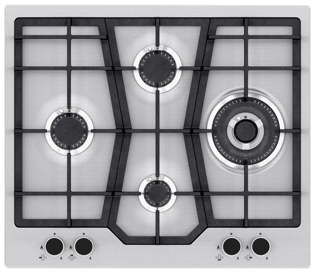Встраиваемая варочная панель газовая Zigmund & Shtain GN 138.61 S Silver фото