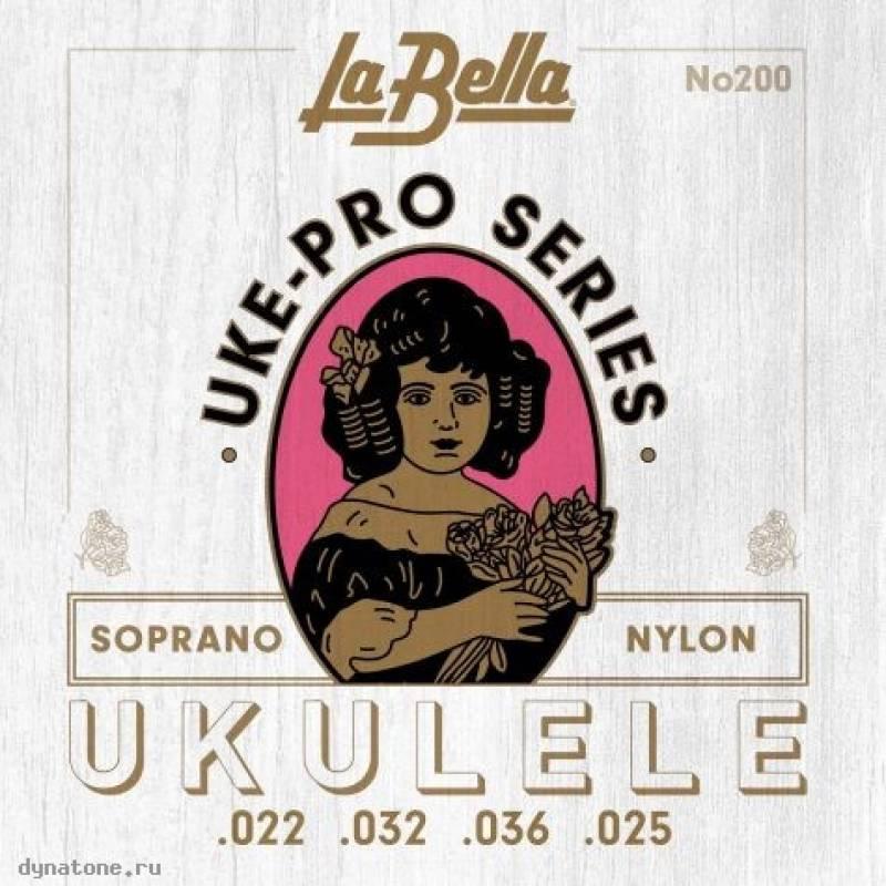 Струны для укулеле сопрано LA BELLA Set 200 Soprano
