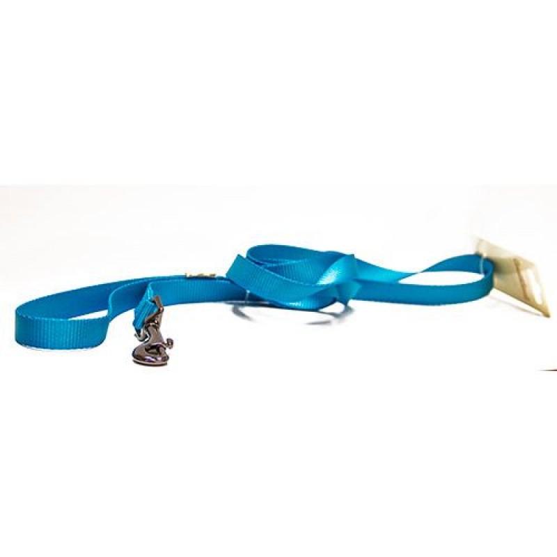 Поводок для собак GREAT&SMALL, нейлон, голубой,